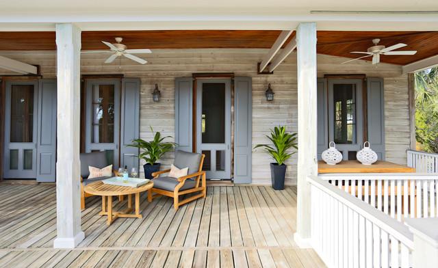 Amy trowman design beach houses beach style porch for Beach house deck ideas