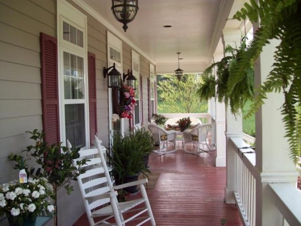 an old fashioned front porch - traditional - porch - other
