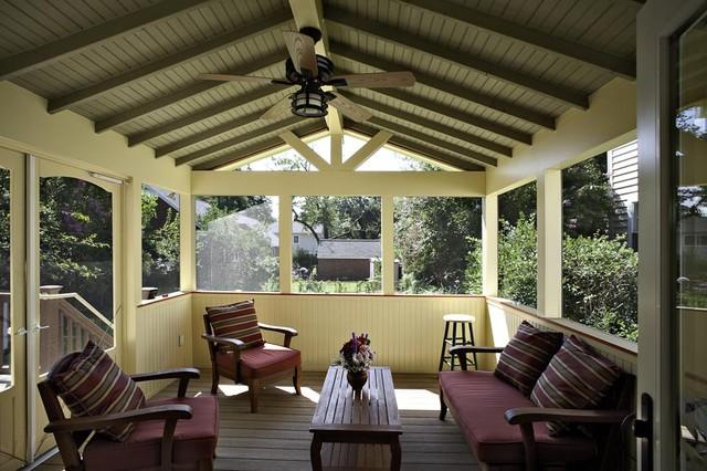 Arlington craftsman styled screen porch exterior dc for Craftsman style screened porch