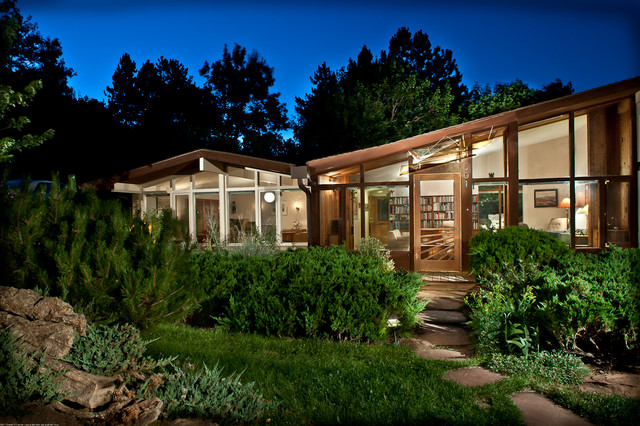 Art Glass Awning For Mid Century Modern Ranch House