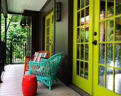 Artists Studio in Houston eclectic-porch