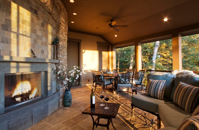 Asheville Mountain Refined traditional-porch