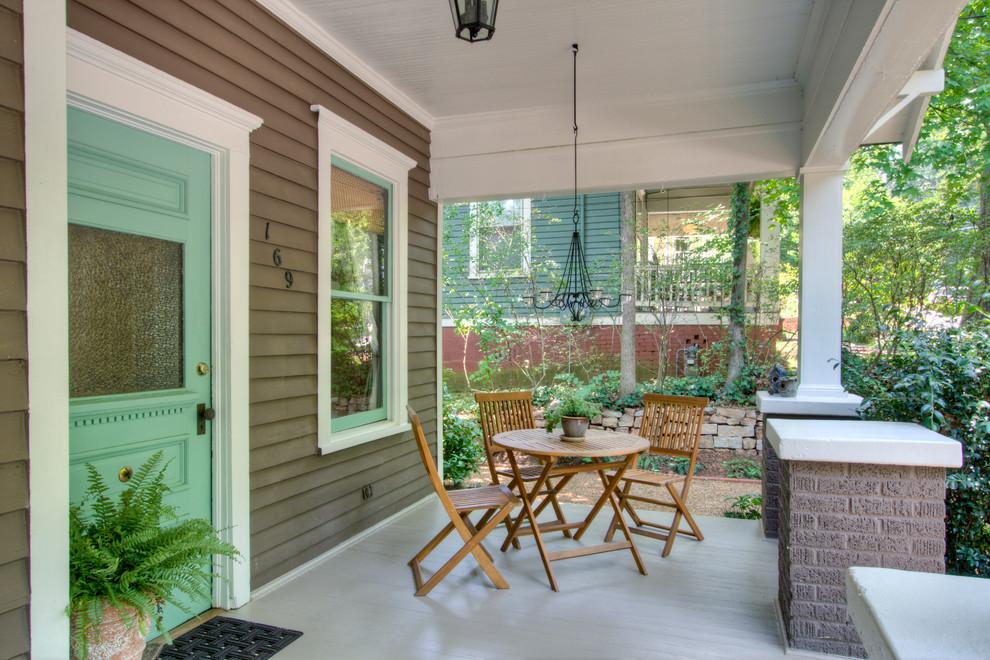 Arts and crafts porch photo in Atlanta