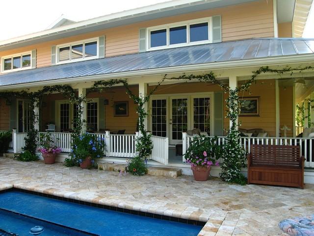 Australian Style Covered Wrap Around Porch Farmhouse
