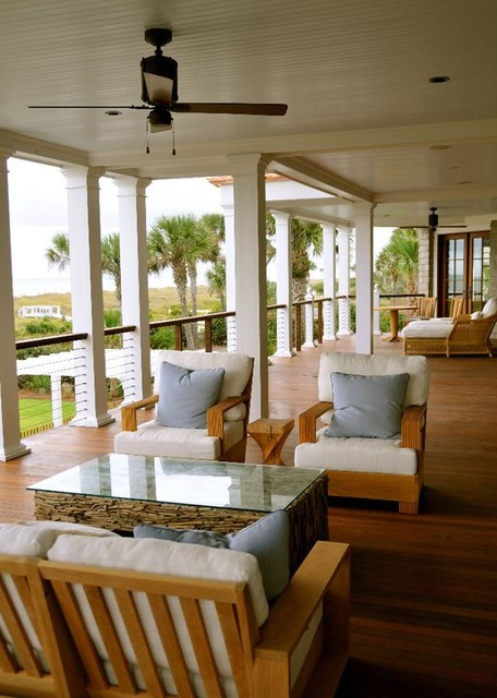 Back Deck beach-style-porch