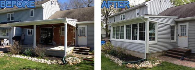 Back Porch Before and After - Traditional - Porch - newark - by ...