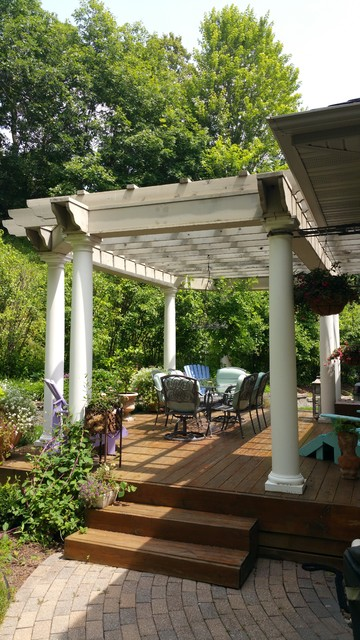 backyard pergola mediterranean porch other by. Black Bedroom Furniture Sets. Home Design Ideas
