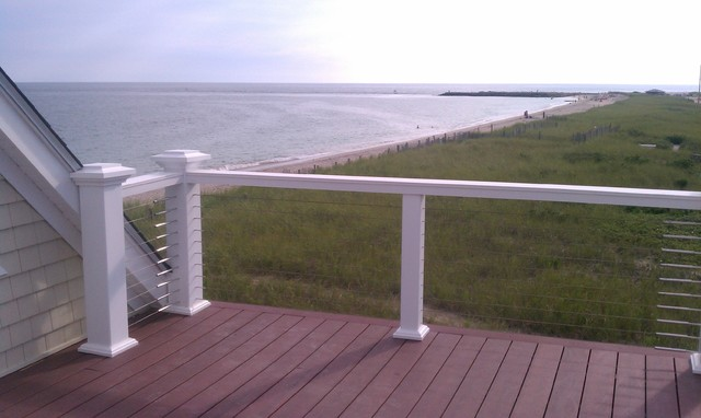 Balcony Railings With Stainless Steel Cable Rail - Modern - Porch - Portland - by Stainless ...