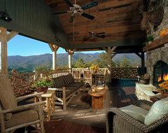 Balsam Mountain Rustic Elegance rustic-porch