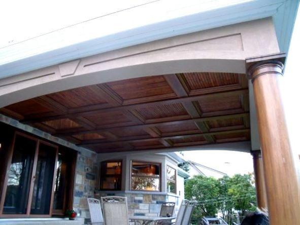 Bamboo Slats tropical-porch