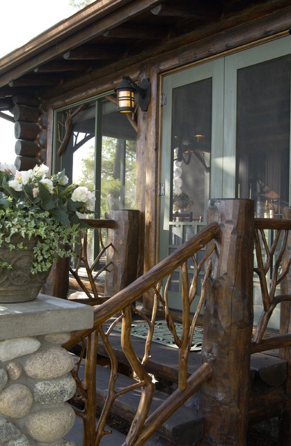 Bay Lake Cabin Rustic Porch Minneapolis By