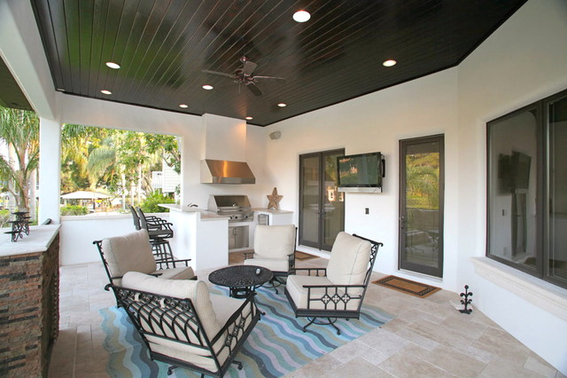 Bayshore Estates Custom Home mediterranean-porch