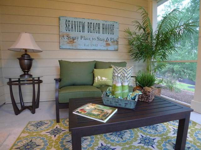 Beach Condo contemporary porch