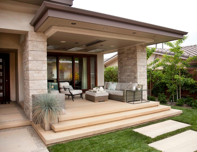 Beach Modern Outdoor Living Contemporary Porch San Diego