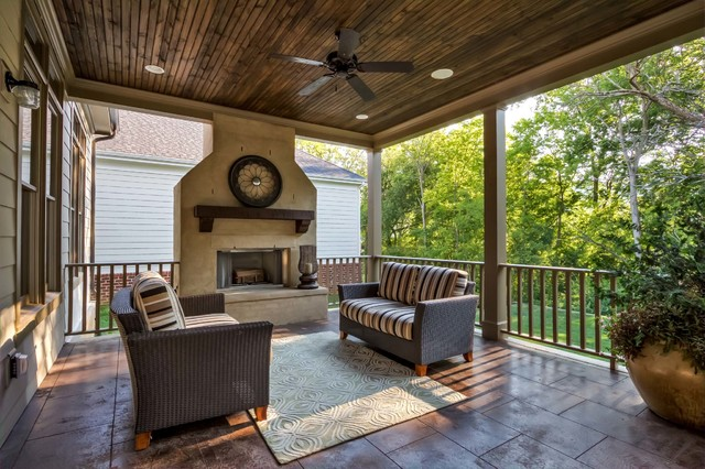 Bellavita interiors portfolio veranda rustic porch for Outside veranda designs
