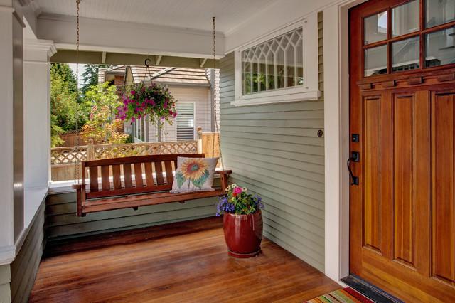 Bellevue House Craftsman Porch Seattle By Kathryn