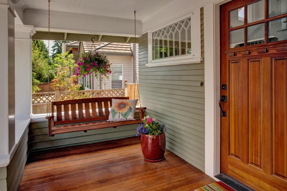 Bellevue House Craftsman Porch Seattle By Kathryn Tegreene Interior Design