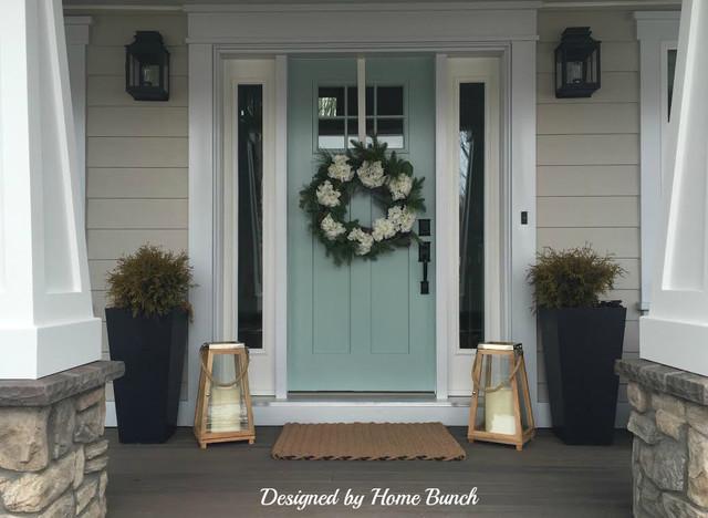 Benjamin moore wythe blue hc 143 front door craftsman for Benjamin moore ewing blue
