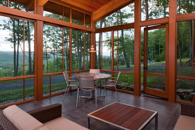 Berkshire Cabin Screen Porch Contemporary Porch