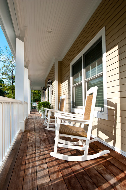 Best Green Energy Efficient Custom Home traditional-porch