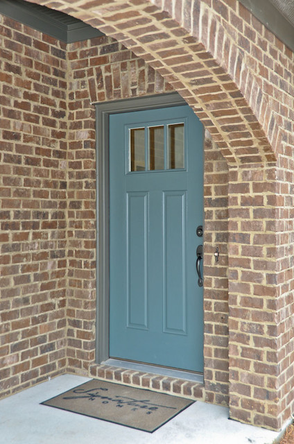 Blue Door Porch Birmingham By Signature Homes
