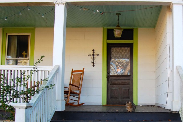 eclectic porch by Corynne Pless