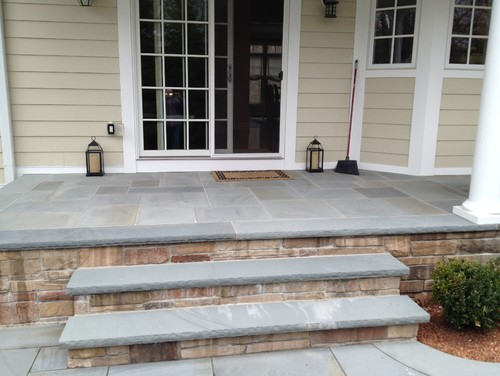 What color is the porch bluestone for Bluestone porch