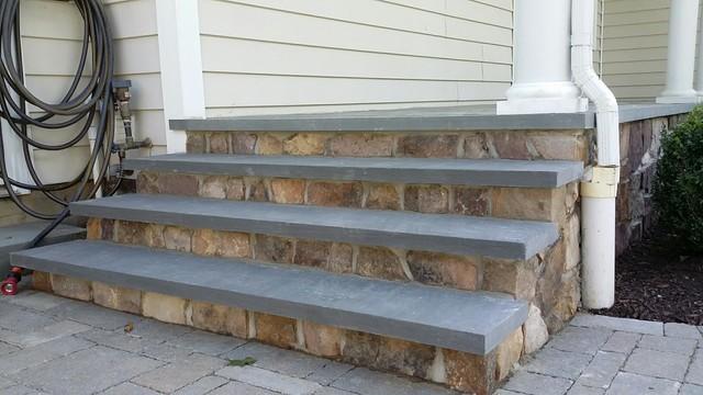 Bluestone Porch   Stone Veneer   Traditional   Verandah ...