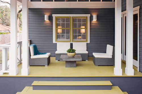 transitional porch Color of the Month: Decorating with Yellow