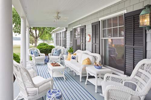 traditional-porch 15 Beautiful Wicker Furniture Design Inspirations