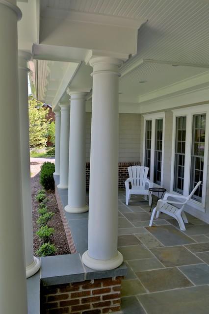 Brick And Bluestone Front Porch Traditional Porch