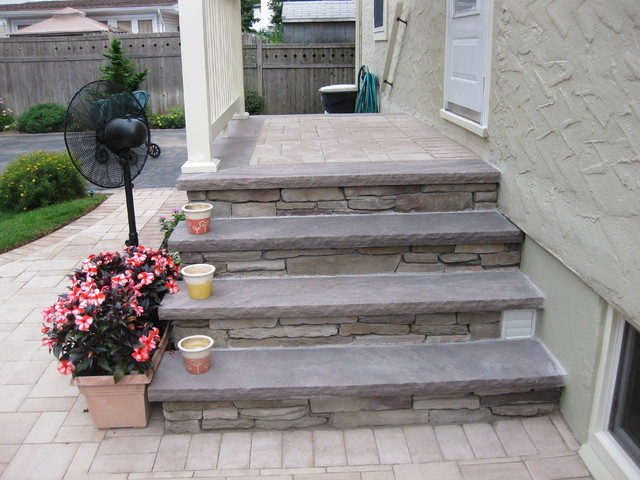 Cambridge Pavers - Contemporary - Porch - New York - by AJC LANDSCAPING