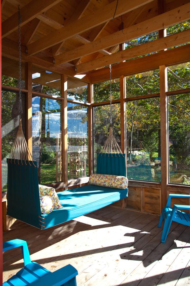 Mountain style porch idea in Boston
