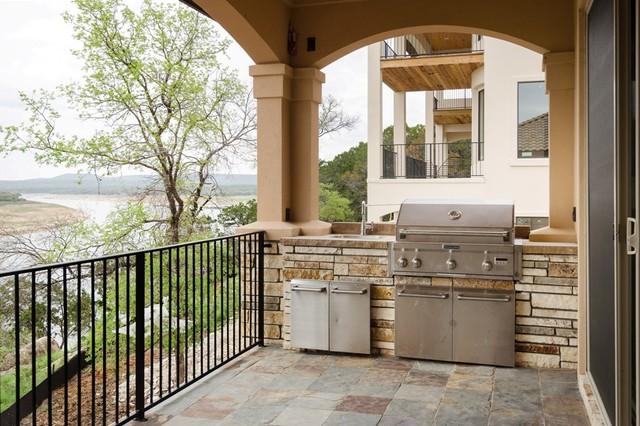 Canyon Oaks Custom Home in Lago Vista mediterranean-porch