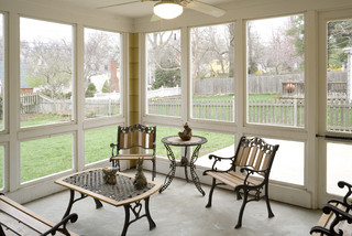 Cape Cod Addition Screened Porch Interior Traditional