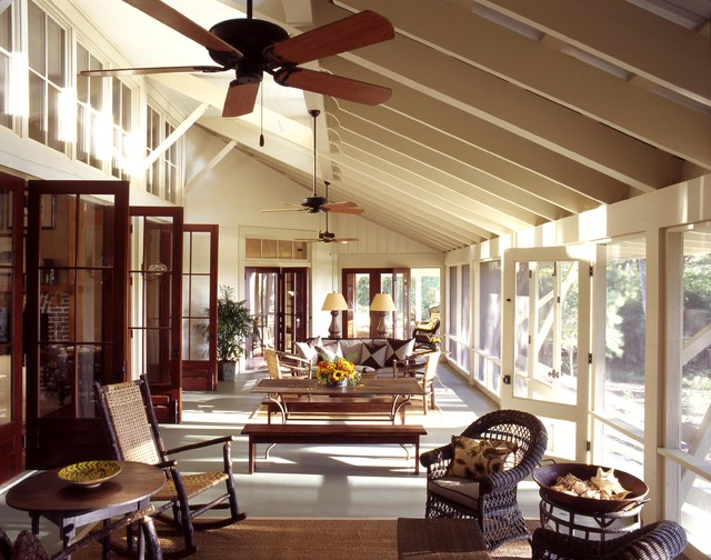 Caribbean Inspired Coastal Cottage traditional-porch