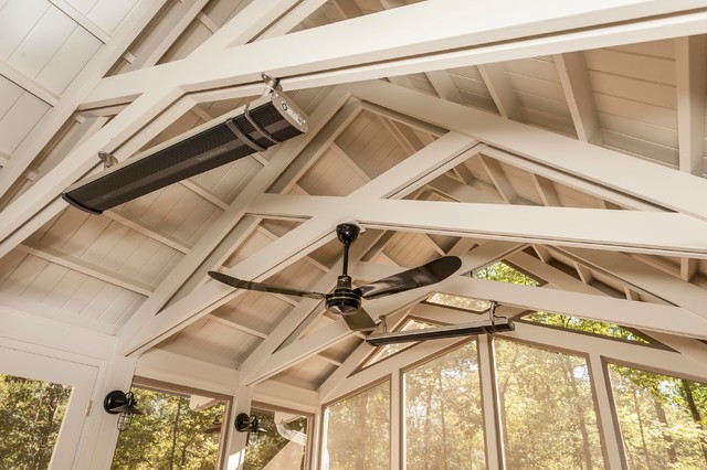 Cathedral Ceiling Traditional Porch Other Metro By Corinthian Fine Homes