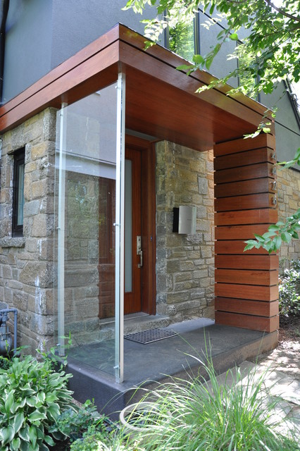 Cavalcanti entry porch modern porch dc metro by for Modern glass porch designs