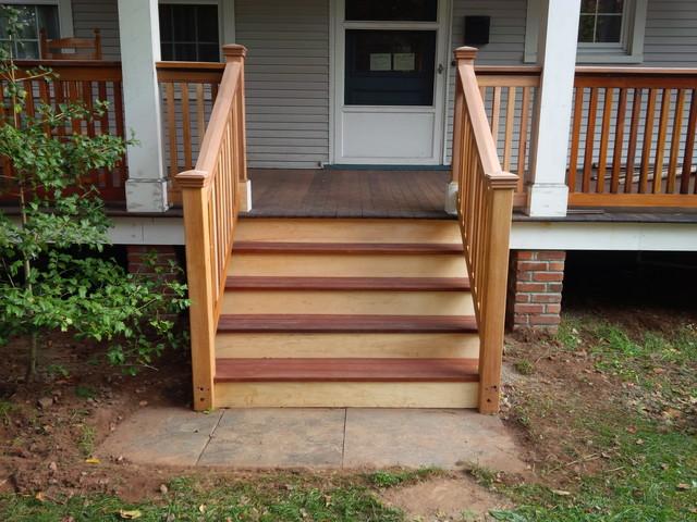 Amazing Cedar U0026 Mahogany Porch Stairs Traditional Porch