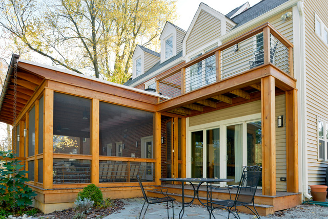 Cedar Screened Porch Modern Porch Dc Metro By
