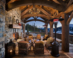 Cedarview Residence rustic-porch