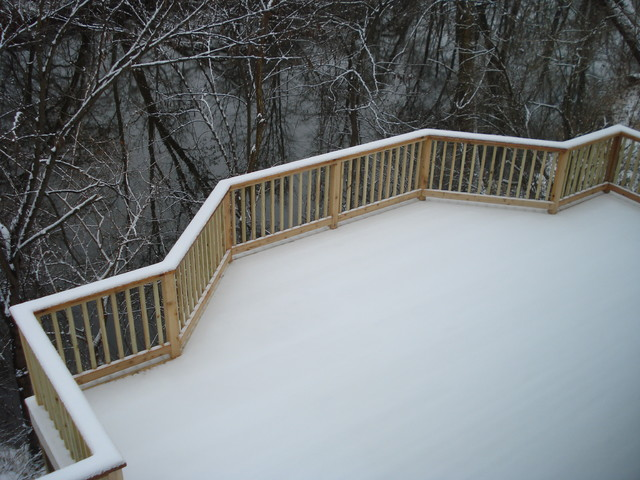 Cherry Tree Rd. deck traditional-porch