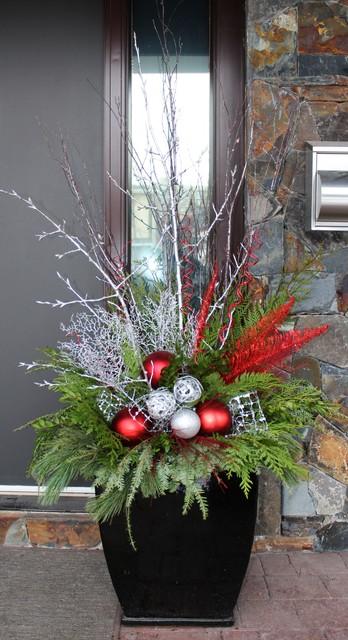 Christmas Decor traditional-porch