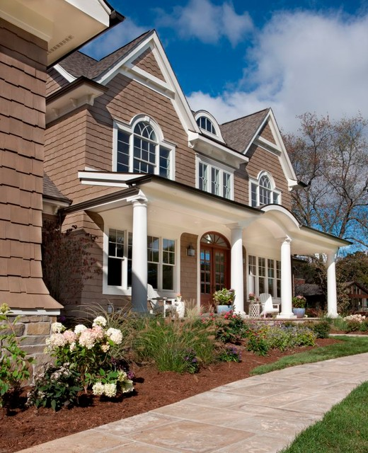 Classic Shingle Style House Traditional Porch