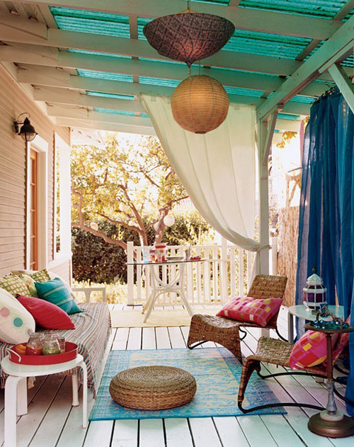 colorful porch eclectic porch