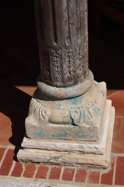 column base mediterranean-porch