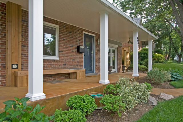 Contemporary front porch bethesda md contemporary for Modern front porch ideas