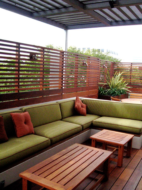 Contemporary penthouse rooftop garden santa monica for Garden on rooftop designs