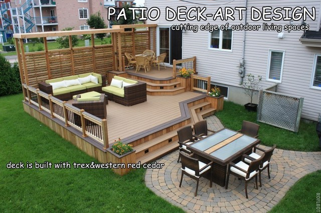 patio deck art designstrex contemporary porch