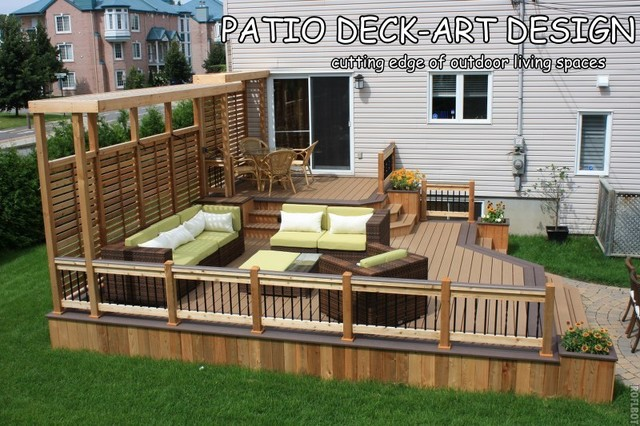 Patio Deck Art Designs Trex Contemporary Porch
